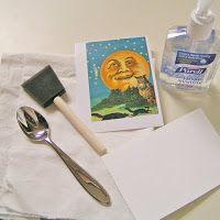 Melange On Etsy: Tips on Image Transfers with Inkjet Printers  Transfer mit Händedesinfektionsmittel von Tintenstrahldrucken!!! Toll!!!