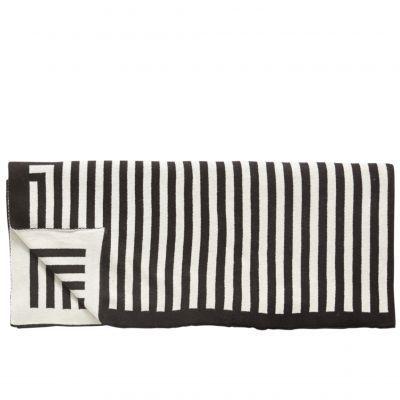Decke schwarz weiß gestreift