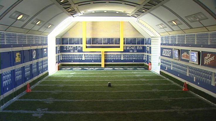 dream rooms   ... right, he's got a mini Dallas Cowboys stadium right in his room
