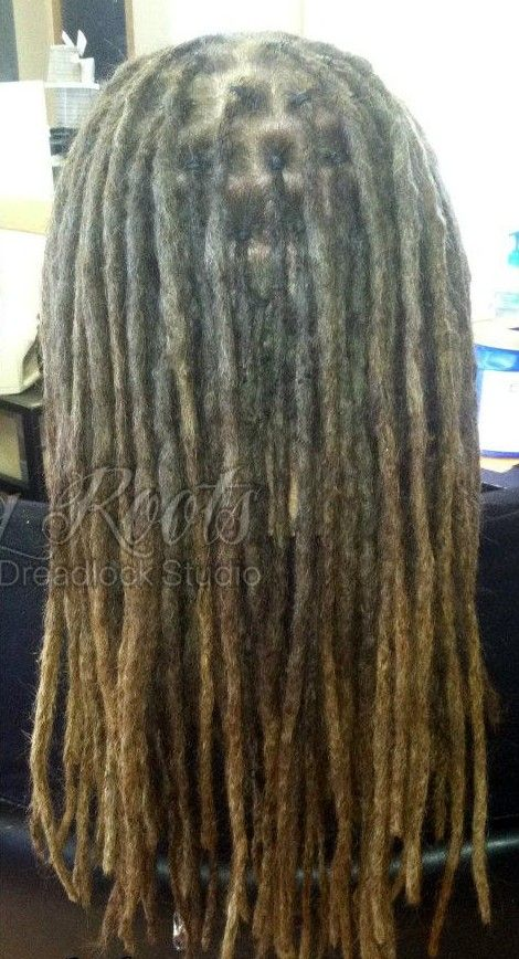 Chart Of How To Section Dreads To Achieve Different Sizes
