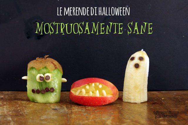 Le merende di Halloween mostruosamente sane!