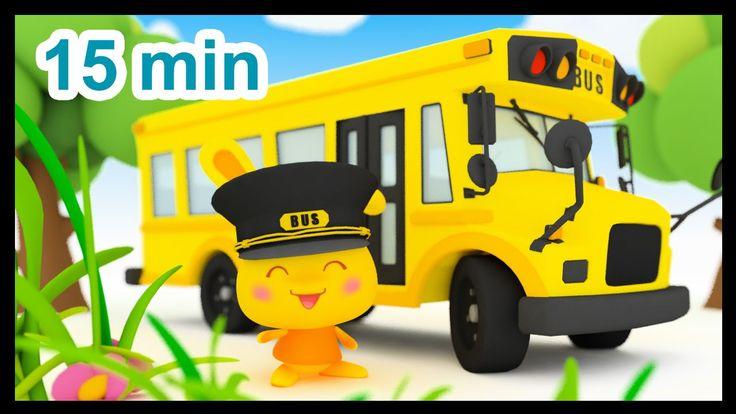 Les roues de l'autobus - 15 min de comptines - Méli et Touni - Titounis