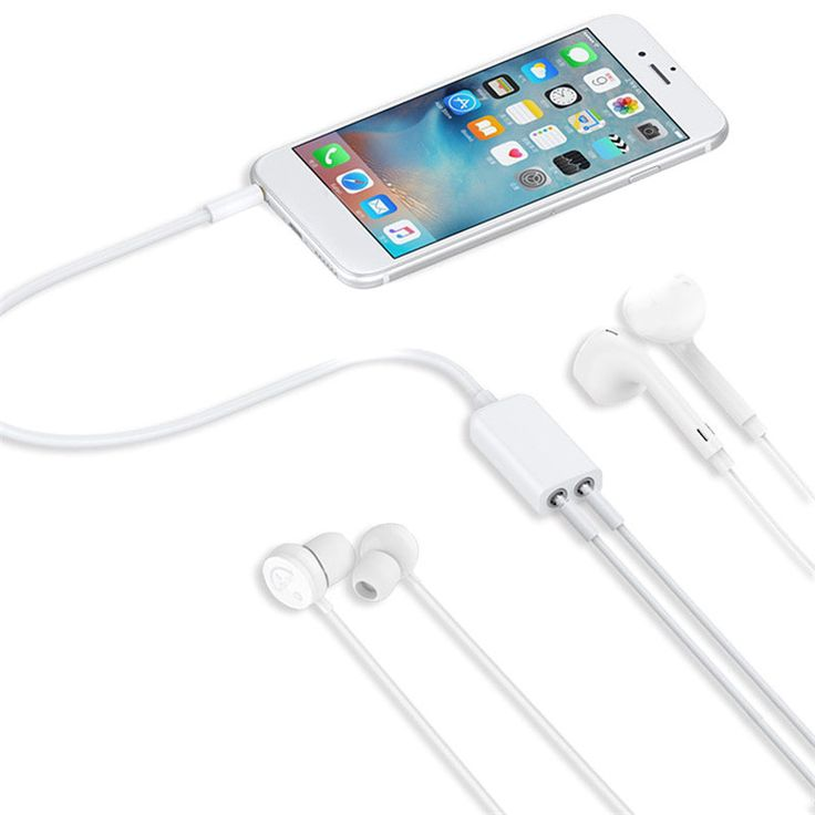 White 3.5mm Audio Jack Stereo Headphone Splitter Cable Adapter for iPhone iPad