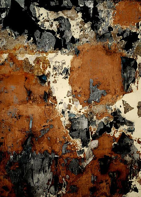 Rust and Black...would be a beautiful piece of art on the wall!