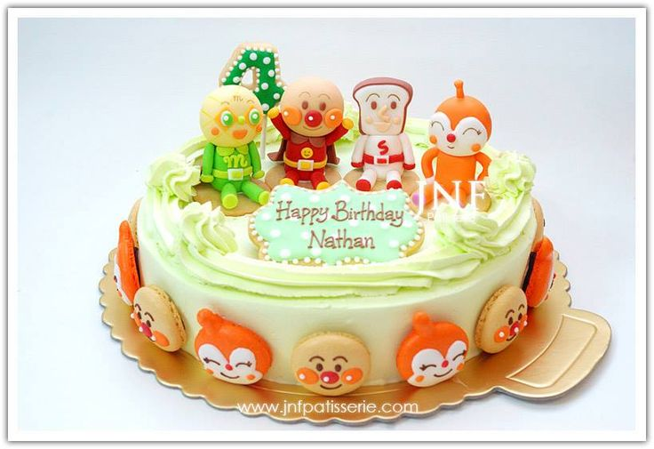 Anpanman Cake Design