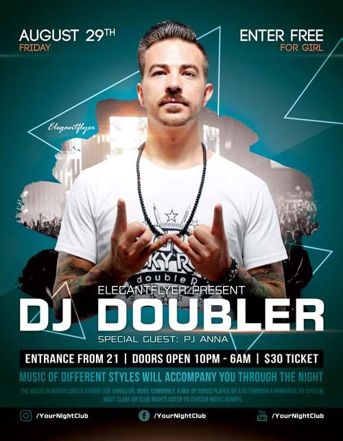 Club Party DJ Event Free Flyer Template - http://freepsdflyer.com/club-party-dj-event-free-flyer-template/ Enjoy downloading the Club Party DJ Event Free Flyer Template created by Elegantflyer!   #Dance, #Dj, #Elegant, #Evente, #Grand, #Music, #Opening, #Party, #Special