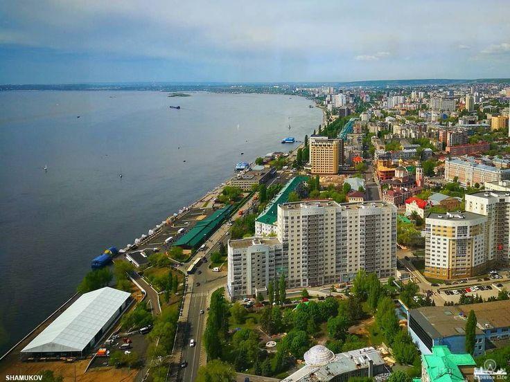 Отличный вид на город и Волгу      #Саратов #СаратовLife