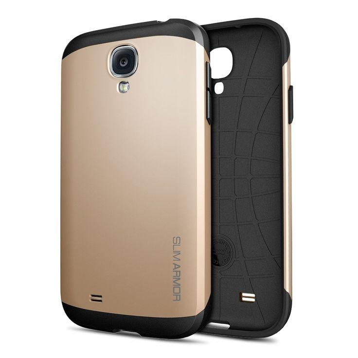 Samsung Galaxy S4 Altın/Gold Slim Armor Kılıf