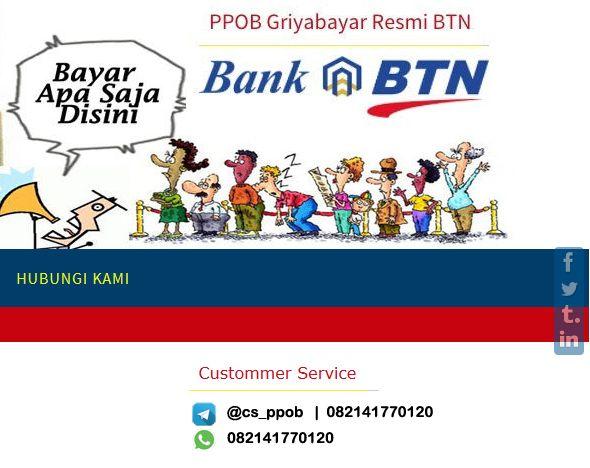 Loket Pembayaran Online PPOB Griyabayar Bank BTN  Klik P P O B, adalah agen resmi Loket Pembayaran Online Griyabayar Bank Tabungan Negara, sebagai penyedia jasa untuk membuka usaha Loket Pembayaran Online. Dengan produk Terlengkap, dengan service Terbaik dan Memuaskan.   #PPOB #PULSA #LISTRIK #PDAM #TELKOM #BPJS #TIKET #GRIYABAYAR #IMPERIUMPAY #KLIKPPOB #PPOBBTN