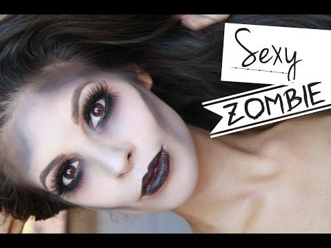 Glamorous Sexy Zombie Makeup Halloween Tutorial 2014 - YouTube