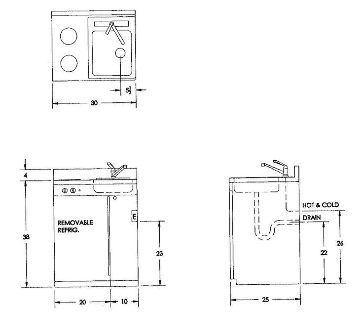 Charming Small Kitchen Sink Sizes #4 - Kitchen Sink Plumbing Rough In Dimensions