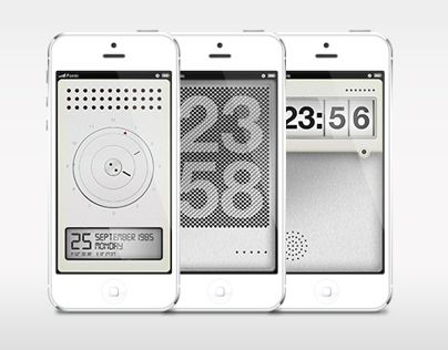 Dynamic lock screen watches for iPhone  2013
