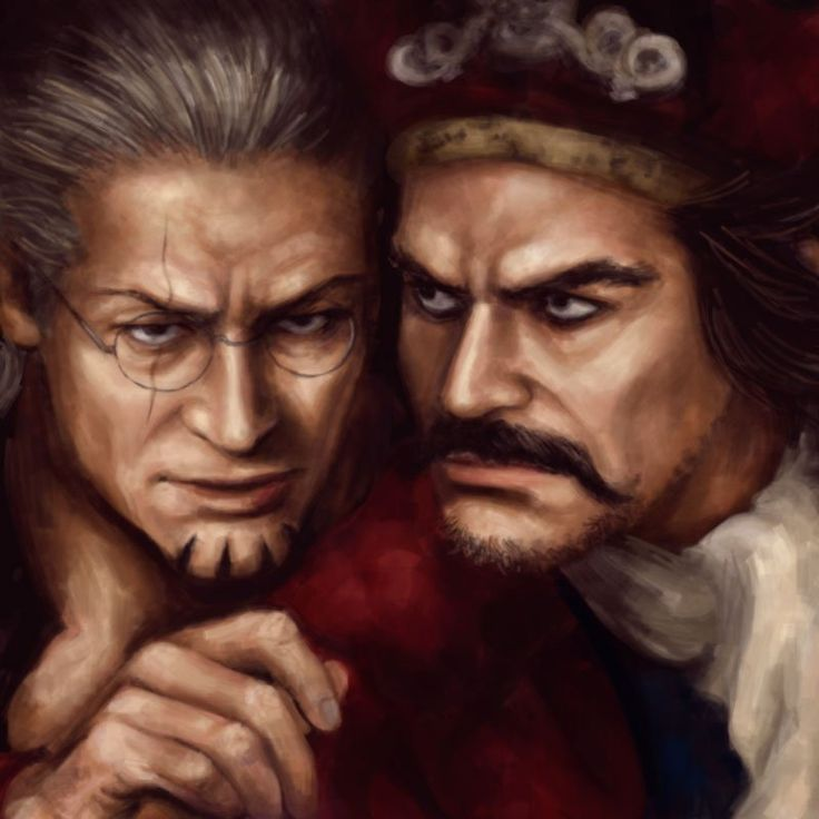 Realistic Gol D.Roger and Silvers Rayleigh One piece art