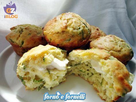 Muffins alle zucchine con cuore di philadelphia, ricetta salata http://blog.giallozafferano.it/fornoefornelli/muffins-alle-zucchine-con-cuore-di-philadelphia-ricetta-salata/