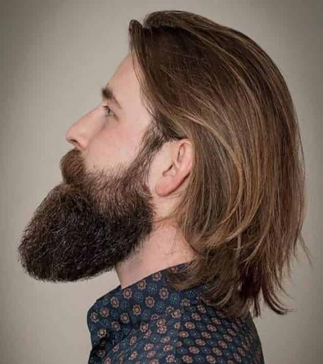 Long Back Slick Hairstyle Long Hair Styles Men Mens Hairstyles With Beard Hair Styles