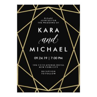 Geometric Wedding Invitations & Announcements | Zazzle