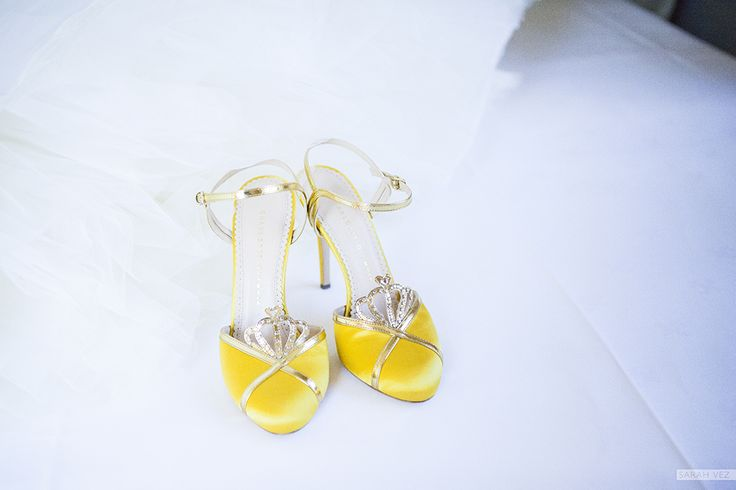 #bride #golden #shoes #yellow #princess #tull #wedding