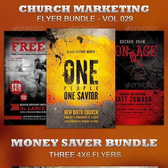 Church Marketing Flyer Bundle Vol 029 Church Marketing Marketing Flyers Flyer