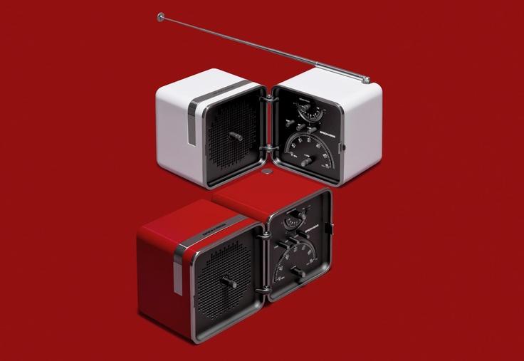 Radio Cubo Brionvega Rossa.  It sounds different.