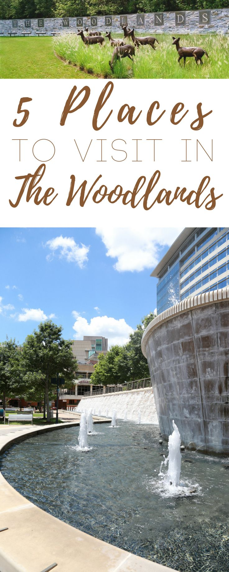 If you plan on visiting the Houston area, here are 5 places to visit in The Woodlands, Texas, a small community on the north side of Houston. #FromHeretoHere