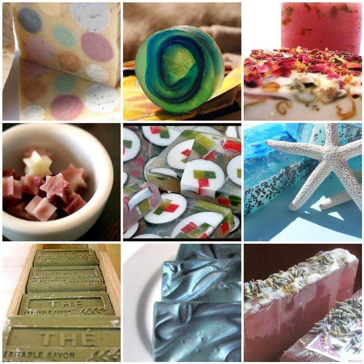 This summer I want to spend some time trying new soap recipes.   They're pretty and fun to give as gifts.