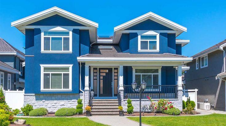 Warna Rumah Biru di 2020 | Rumah, Warna, Biru