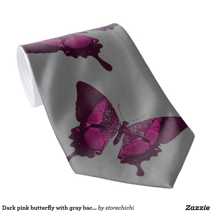 Dark pink butterfly with gray backround