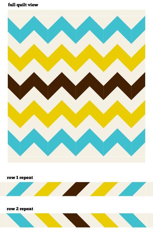 WIP: Chevron Quilt Top | Swell Goods: Vintage Modern Craft Supplies & DIY tricks