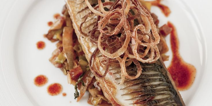 Mackerel and chorizo are wed in a lavish recipe by Marcus Wareing. Shallot crisps and sweet leeks add delicious texture in this mackerel fil...