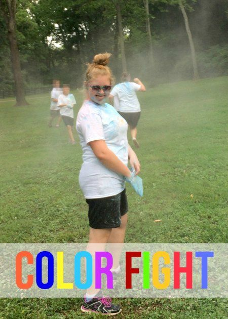 Color Fight with DIY color powder