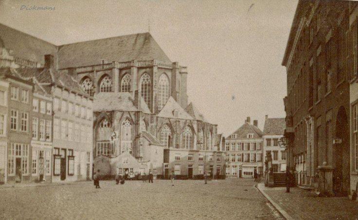 Breda - Grote Markt - Met kerkhuisjes - 1860-1870