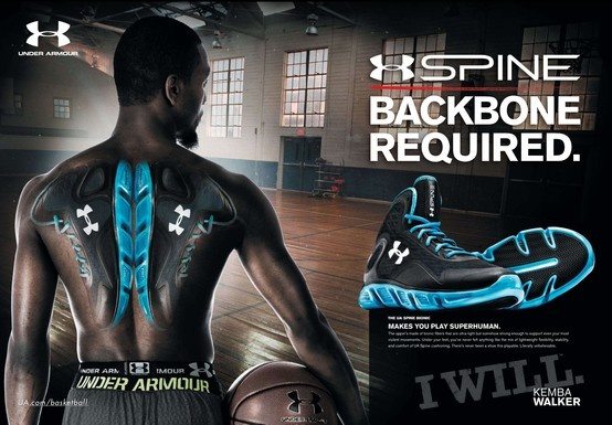 Under  Spine ad Kemba featuring Walker Armour (2013)