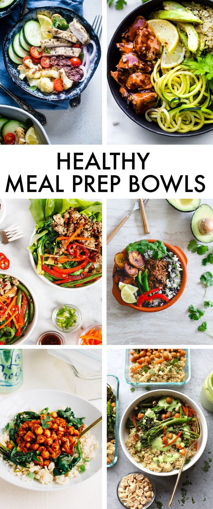 Healthy Meal Prep Bowls | Fit Foodie Finds, Running to the Kithen, Food Faith Fitness, Eating Bird Food, Cotter Crunch & Lexi's Clean Kitchen