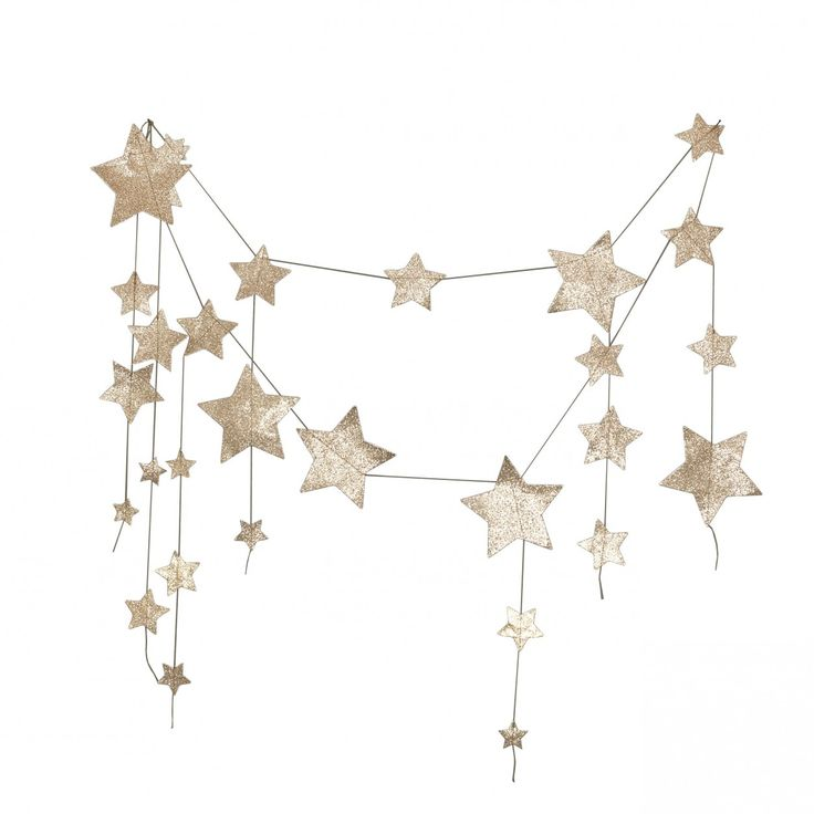 Hang smaller versions of this on dowels (like they do on birthday cakes) and place them in the gold mercury glasses