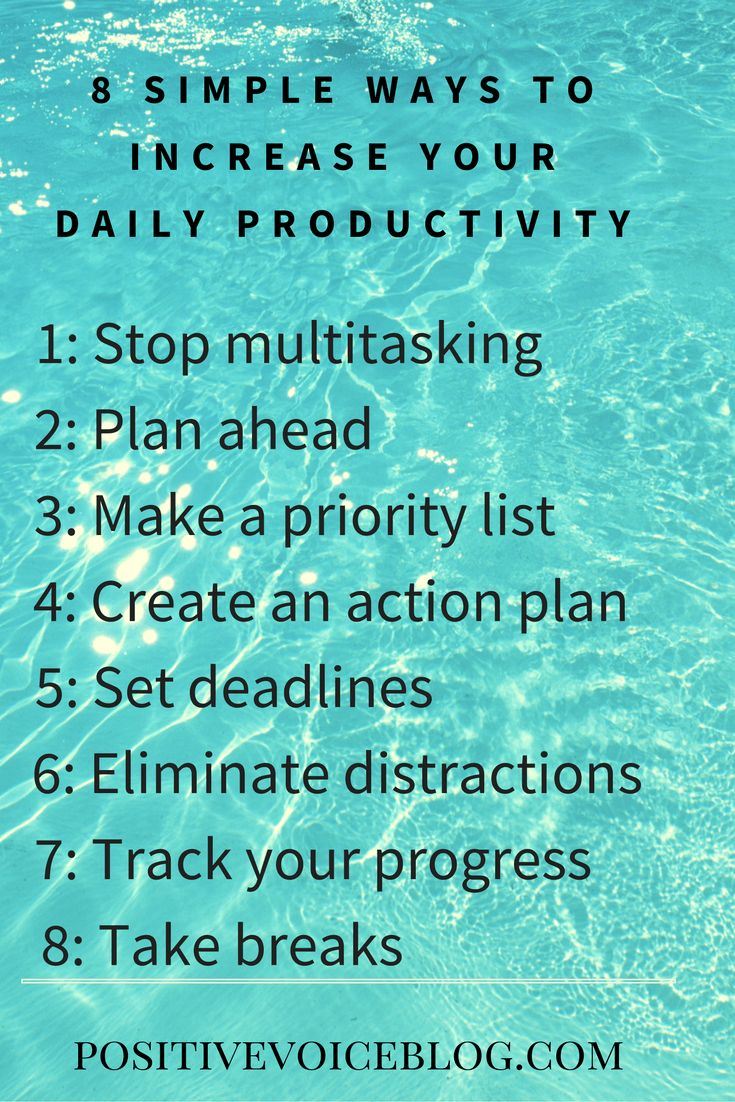 8 simple ways to increase daily productivity
