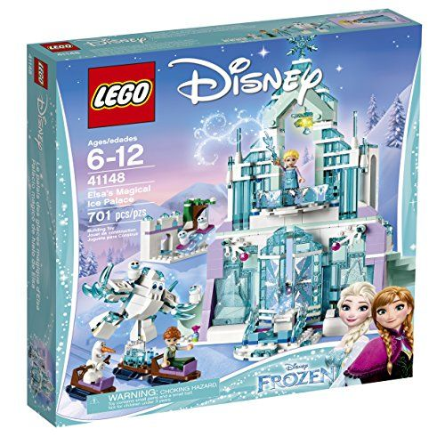 Build a grand and glittering ice Palace for Elsa and feel the magic and adventure with the special sliding bridge and revolving staircase functions. There's so much detail inside and out to help rec...