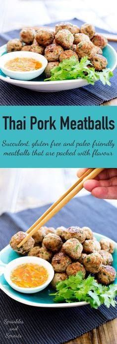 These Thai Pork Meat These Thai Pork Meatballs are flavour...  These Thai Pork Meat These Thai Pork Meatballs are flavour bombs! Fabulous thai flavours in easy to eat form! Serve these as a canapé nibble or appetiser. Or cook them up as part of a Thai banquet. However you make them make sure you grab a few for yourself as these go quickly. Recipe : http://ift.tt/1hGiZgA And @ItsNutella  http://ift.tt/2v8iUYW