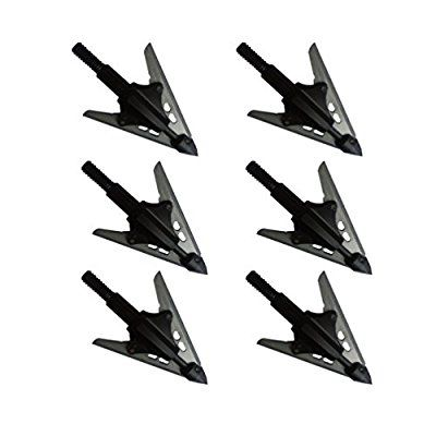 Melhor Vendedor 6 Pack 2 Fixed Blade Powerful Outdoors Field Archery Arrow Head Hunting Arrow Tips Stainless Steel Rage Crossbow Grim Reaper Slick Trick Broadheads for Compound Bow and Crossbow Suit