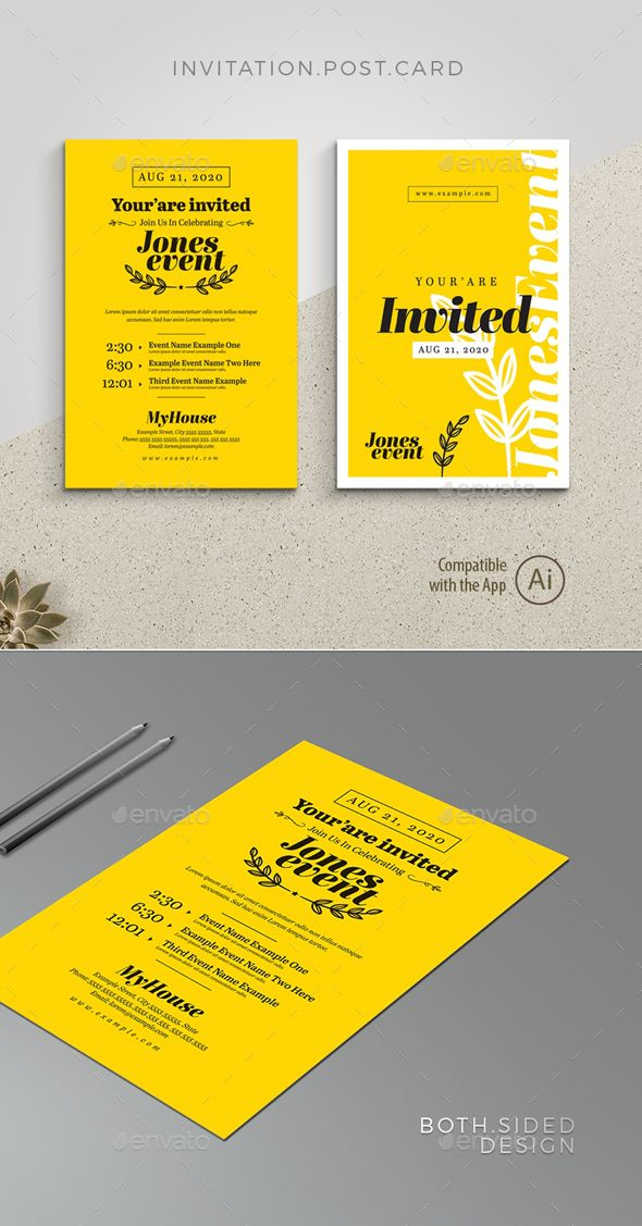 Pin About Postcard Invitation Event Invitation Design And