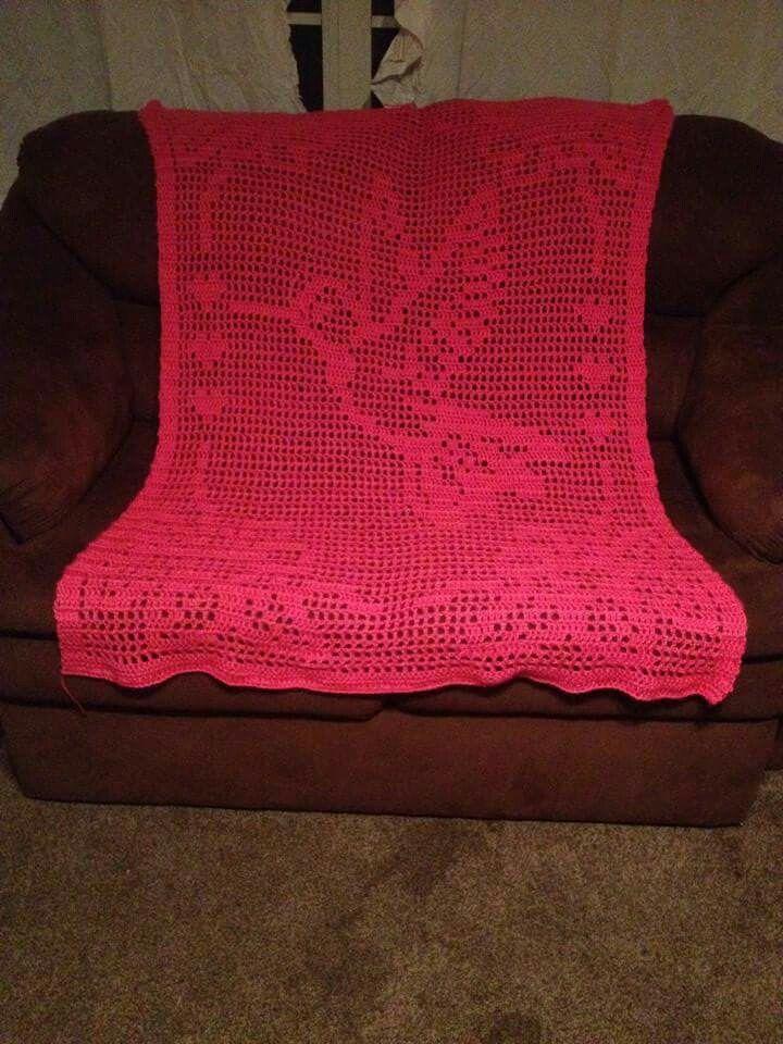 Crochet Hummingbird blanket