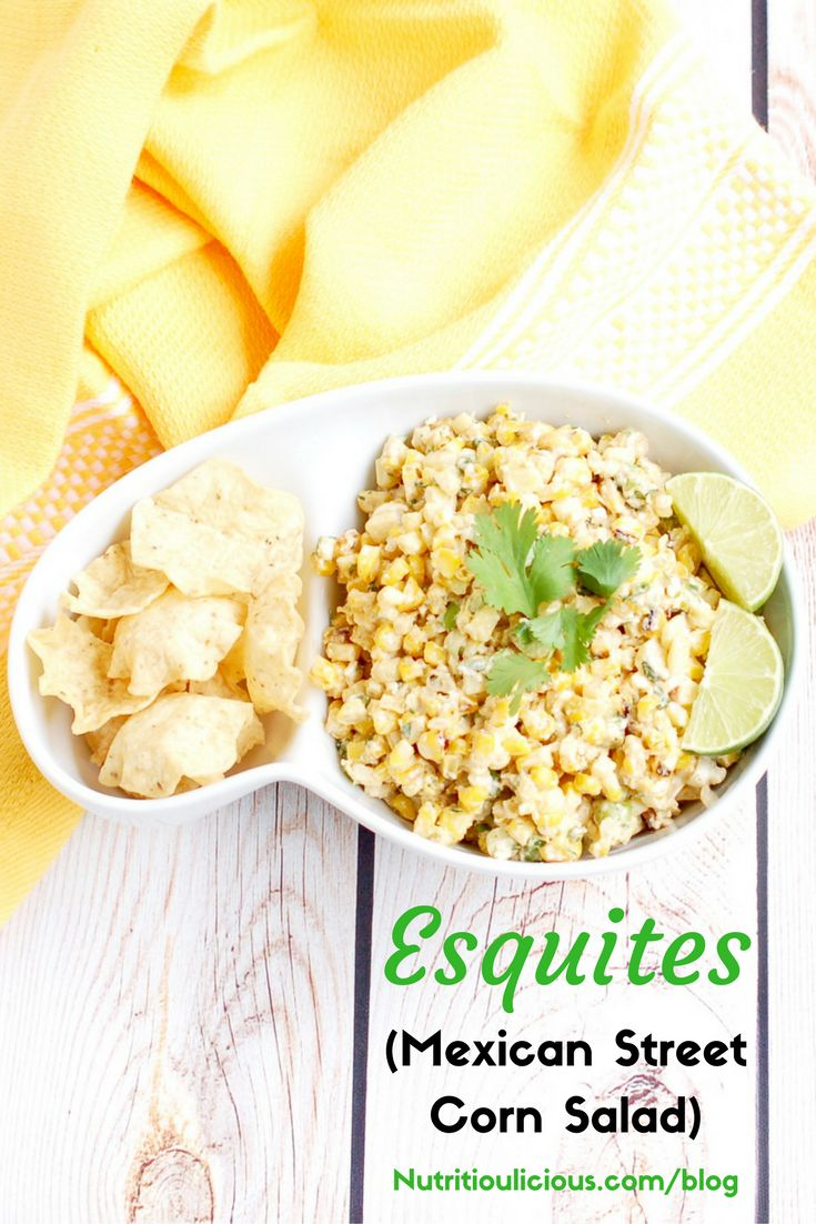 Esquites (Mexican Street Corn Salad) | This lighter version of a ...