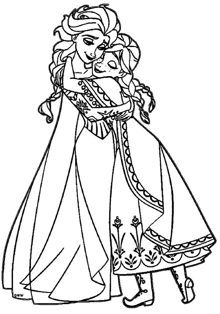 Elsa Coloring Pages Elsa coloring, Elsa coloring pages
