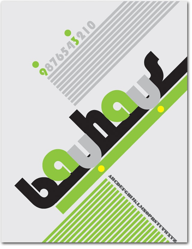 This is a simple typographic poster for Bauhaus 93 font family. The objectives of this project were to explore similarities (unity) and variety (contrast) within a single font family, to communicate the unique characteristics of a font family, and to explore the principle of visual hierarchy without manipulating the proportion of the letterforms in any way.