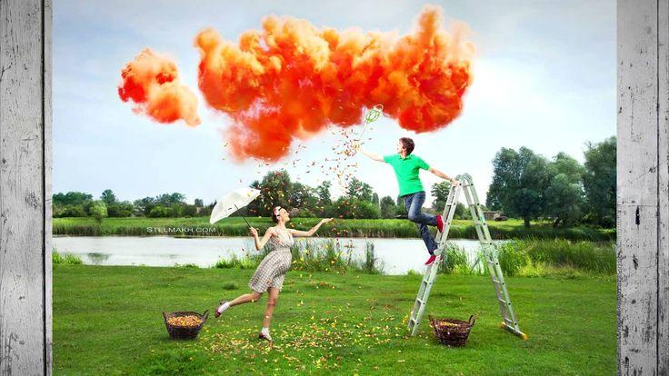 Цветной дым для фотосессии - идеи съемки