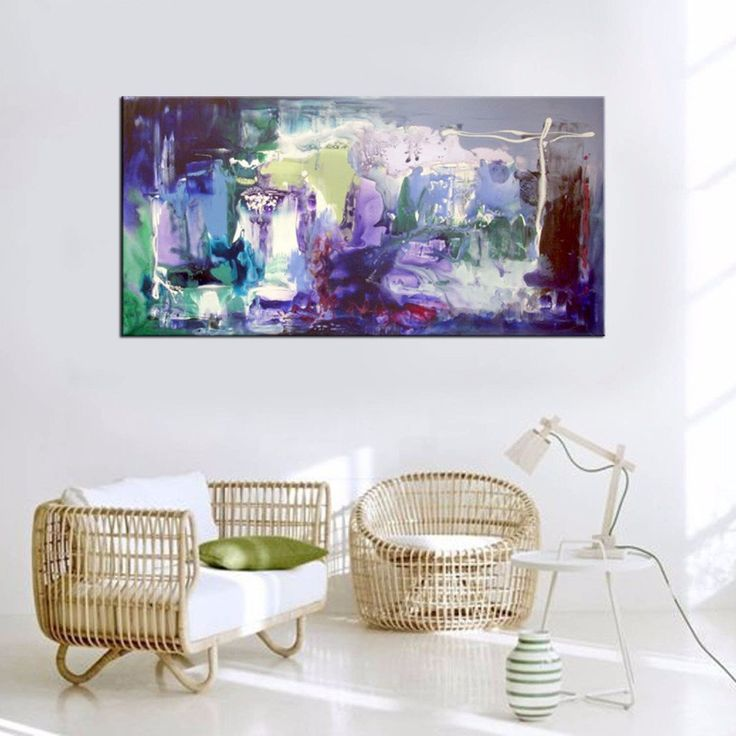 Rectangular abstract canvas paintings for sale