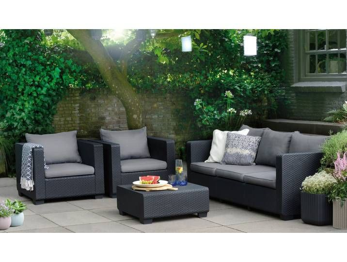 Best Lounge Set Burano Grau In 2020 Aussenmobel Lounge Mobel Tisch 70x70