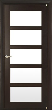 Interior door but in white with 5 glass panels to match our wooden