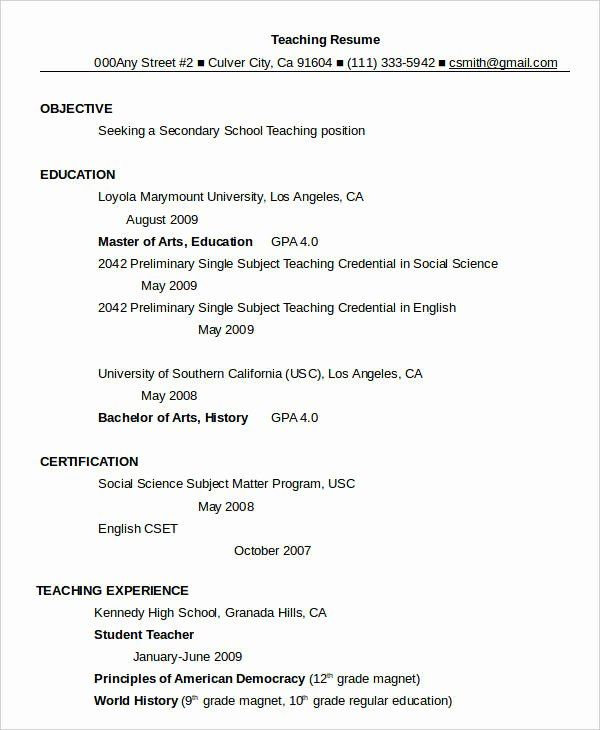 teacher resume template word beautiful resume in word
