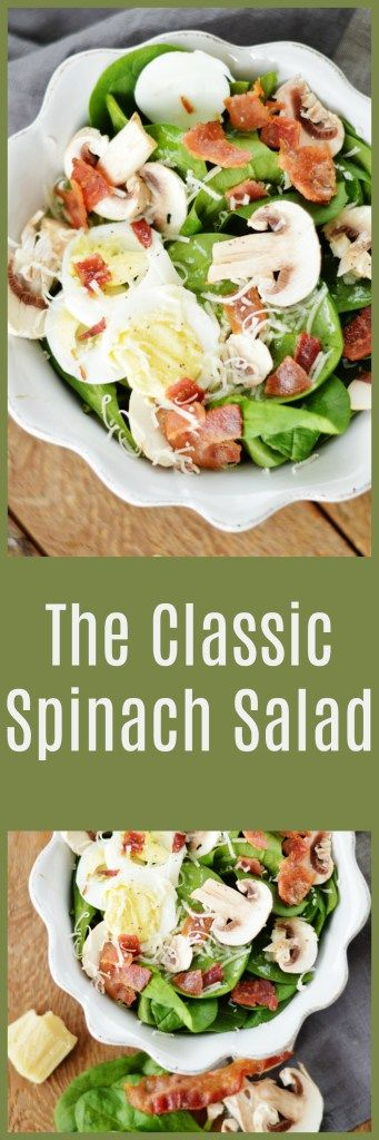 The Classic Spinach Salad by A Teaspoon of Home