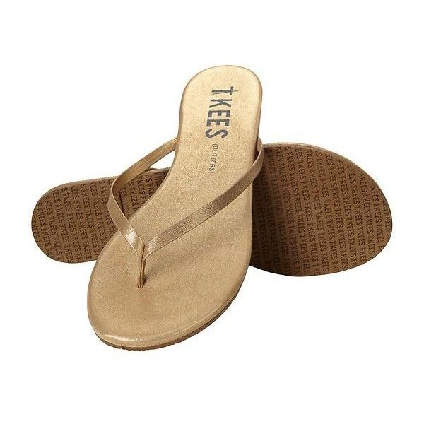 Tkees Women Glitter Flip Flops Size 10 ($50) ❤ liked on Polyvore featuring shoes, sandals, flip flops, flats, brown, brown flats, slip on flip flops, glitter flip flops, flat pumps and flat shoes